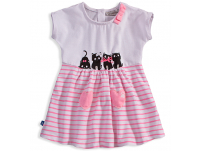 Dievčenské šaty Mix´nMATCH CATS ružové