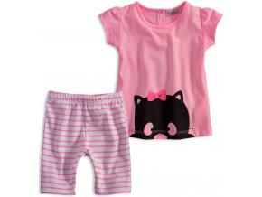 Dievčenský letný set Mix´nMATCH CATS ružový