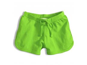 Dievčenské bavlnené šortky KNOT SO BAD GIRL zelené