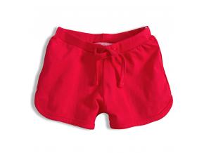 Dievčenské bavlnené šortky KNOT SO BAD GIRL červená