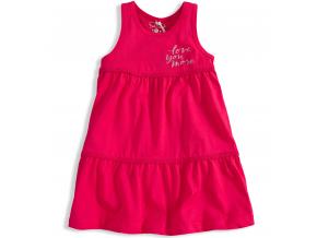 Dievčenské šaty KNOT SO BAD LOVE YOU MORE ružové