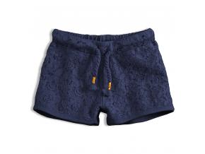 Dievčenské čipkové šortky KNOT SO BAD LACE modré