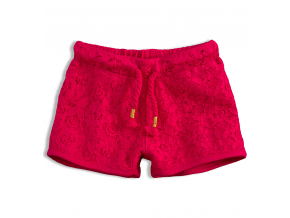 Dievčenské čipkované šortky KNOT SO BAD LACE ružové