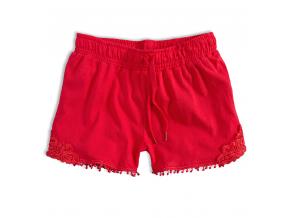Dievčenské šortky KNOT SO BAD GIRL červené