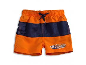 Chlapčenské šortky na kúpanie KNOT SO BAD SURF BOARD oranžové