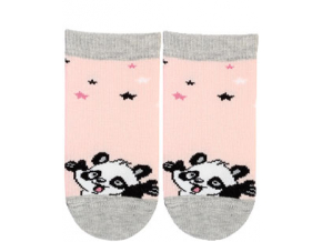 Dievčenské dojčenské ponožky GATTA PANDA ružové