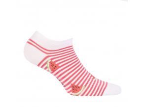 Dievčenské členkové ponožky WOLA MELÓN biele