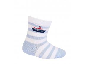 Chlapčenské dojčenské ponožky WOLA PARNÍK biele