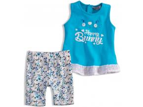 Dievčenský letný komplet Mix´nMATCH BUNNY modrý
