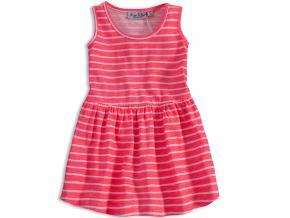 Dievčenské šaty KNOT SO BAD PRÚŽKY ružové