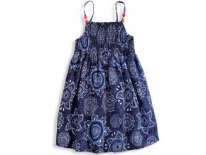 Dievčenské letné šaty LOSAN SUNFLOWER modré