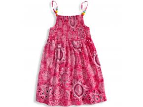 Dievčenské letné šaty LOSAN SUNFLOWER ružové