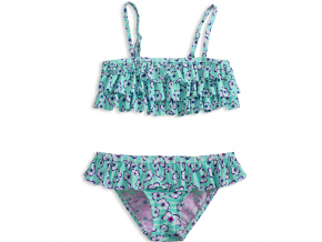 144003 dievcenske dvojdielne plavky knot so bad motyle zelene