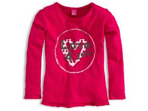 Dievčenské tričko Dirkje LOVE ružové