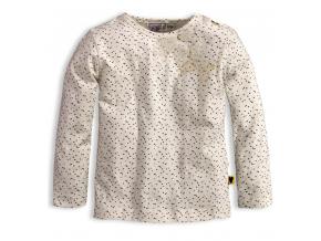 Dievčenské tričko DIRKJE LITTLE LADY krémové
