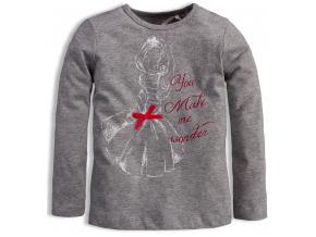 Dievčenské tričko KNOT SO BAD WONDER šedé