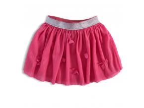 Dievčenská tutu sukňa KNOT SO BAD MOTÝLE ružová