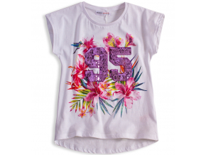 Dievčenské tričko MINOTI FEVER biele