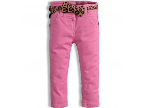 Dievčenské farebné džínsy MINOTI PARTY svetloružové
