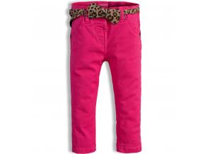 Dievčenské farebné džínsy MINOTI PARTY tmavoružové
