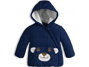 Dojčenská zimná bunda KNOT SO BAD MEDVEDÍK tmavo modrá