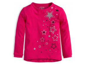 Dievčenské tričko LOSAN HVIEZDY ružové