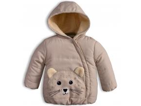 Detská zimná bunda KNOT SO BAD ANIMALS béžová