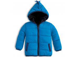 Detská prešívaná bunda KNOT SO BAD ANIMALS modrá
