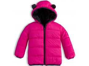 Detská prešívaná bunda KNOT SO BAD ANIMALS ružová