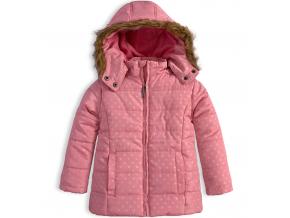 Dievčenská zimná bunda KNOT SO BAD BODKY ružová
