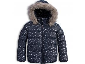 Dievčenská zimná bunda LEMON BERET HVIEZDIČKY modrá