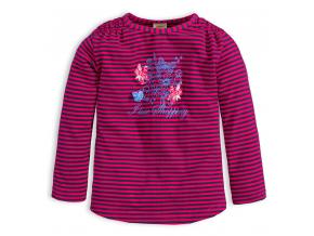 Dievčenské tričko DIRKJE STYLISH ružový prúžok