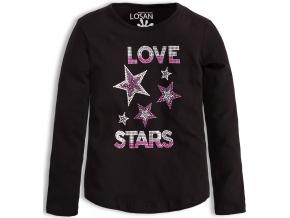 Dievčenské tričko LOSAN LOVE STARS čierne