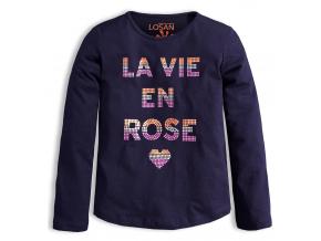 Dievčenské tričko LOSAN ROSE modré