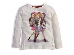 Dievčenské tričko KNOT SO BAD FRIENDS smotanové