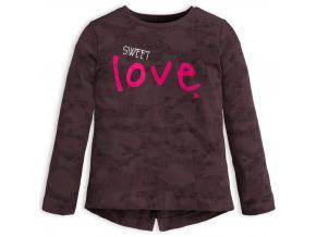 Dievčenské tričko KNOT SO BAD SWEET LOVE šedé