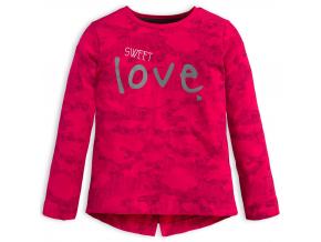 Dievčenské tričko KNOT SO BAD SWEET LOVE ružové