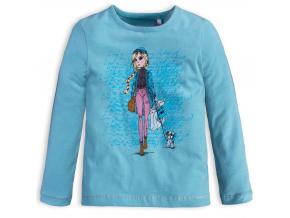Dievčenské tričko KNOT SO BAD SHOPPING tyrkysové