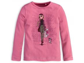 Dievčenské tričko KNOT SO BAD SHOPPING ružové