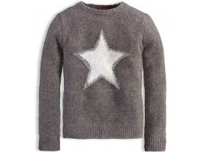 Dievčenský sveter KNOT SO BAD HVIEZDA šedý