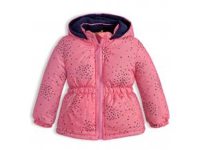 145358 detska zimna bunda lemon beret hviezdicky ruzova
