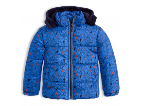 Chlapčenská zimná bunda LEMON BERET GEOMETRIC modrá