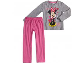 Dievčenské pyžamo DISNEY MINNIE SHINE šedé