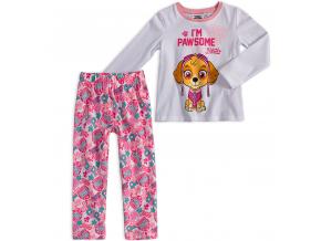 Dievčenské pyžamo PAW PATROL SKYE biele