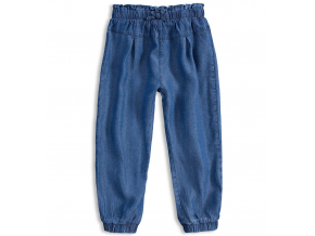 Dievčenské voľné nohavice MINOTI RAINFOREST modré