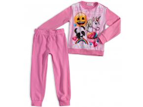 Dievčenské pyžamo EMOJI SMAJLÍK svetloružové