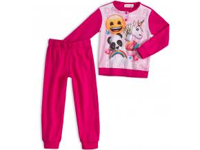 Dievčenské pyžamo EMOJI SMAJLÍK tmavoružové