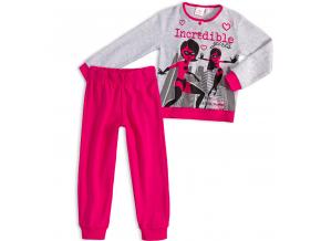Dievčenské pyžamo DISNEY INCREDIBLES Rodinka Úžasných tmavoružové