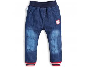 Chlapčenské zateplené džínsy CANGURINO MEDVEDÍK modré