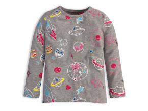 Dievčenské tričko s dlhým rukávom KNOT SO BAD UFO šedé